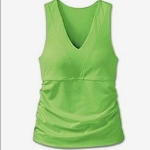 Athleta Bra Cup Empire Vee Neck Tank 36D